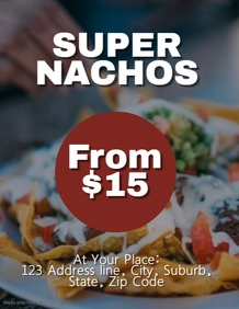 Nacho Flyer Template