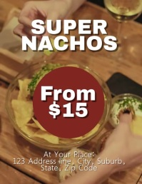 Nacho Flyer Template