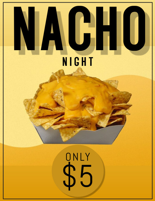 Nacho Night Special Flyer Template