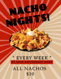 Nacho Nights Restaurant Flyer Template