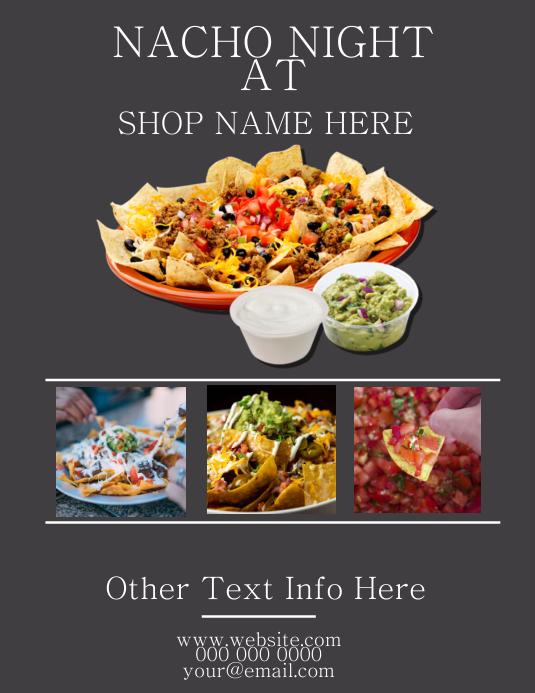 Nacho Nights Restaurant Flyer Template