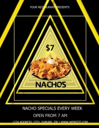 NACHO RESTAURANT VIDEO TEMPLATE Volante (Carta US)