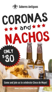Nachos and Mexican Food Restaurant Display Ad