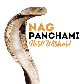 Nag Panchami Best Wishes Template