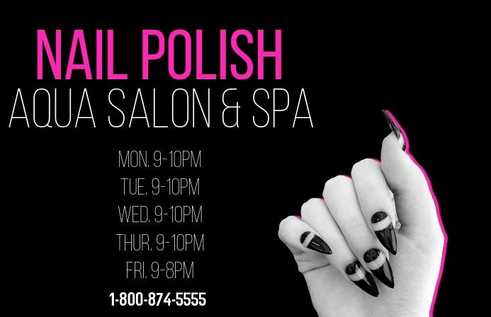 nail & spa/glamour/nail salon/beauty/polish Tabloid template