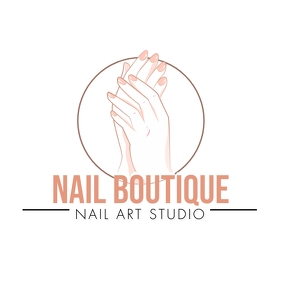 Nail Art Salon Logo template