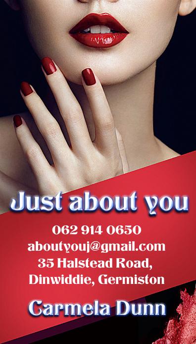 Nail beauty spa business card