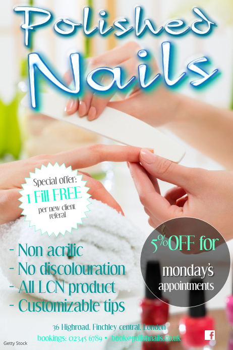 Nail business flyer