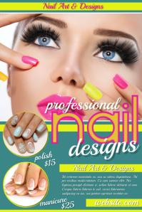 customizable design templates for nail salon postermywall