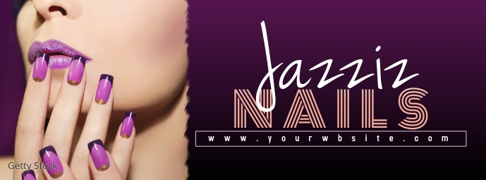 Nail Makeup Beauty Banner Facebook Cover Photo template