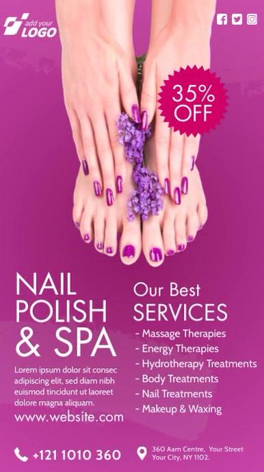 Nail Polish & Spa Indaba yaku-Instagram template
