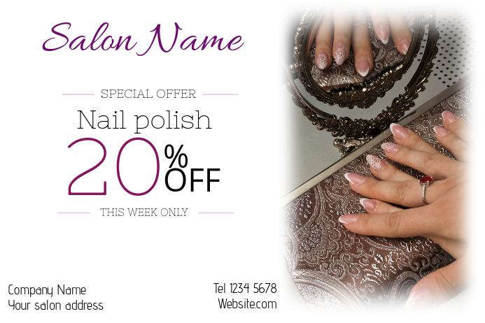 nail polish beauty salon special sale landscape poster