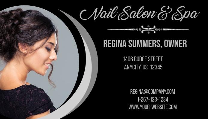 nail salon spa business card - Spa Business Cards