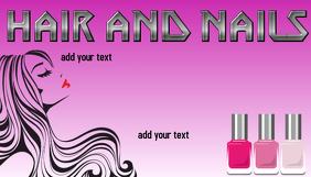 Customizable design templates for nail salon business card nail salon beauty spa hair and nails nail salon business card template colourmoves