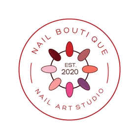 Nail Salon Boutique Logo template