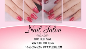 Customizable design templates for nail salon business card nail salon business card cheaphphosting Gallery