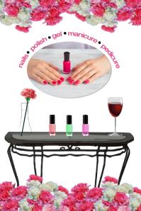 nail salon/manicure/spa/beauty/salon belleza Poster template
