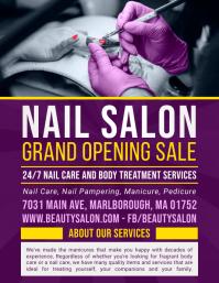 Nail Salon Opening Advertisement Flyer Volante (Carta US) template