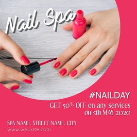 Nail spa Square (1:1) template