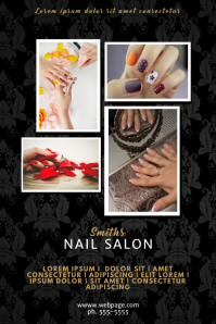 Nail Spa Salon Flyer Service Template