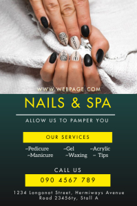 NAILS AND SPA SALOON FLYER Poster template