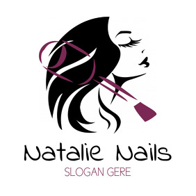 Nails Beauty Hair Feminine Logo
