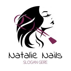 Nails Beauty Hair Feminine Logo