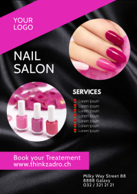 Nails Salon Beauty Studio story ad Advert A4 template