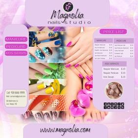 nails salon instagram Square (1:1) template