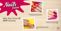 Nails Salon Template Banner Header cover Ad Рекламное объявление Facebook