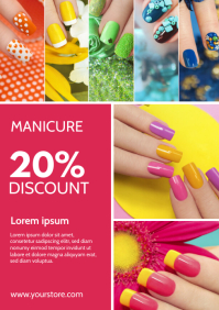 Nails Studio Poster Flyer Services Ad Beauty A4 template