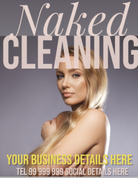 naked cleaning Рекламная листовка (US Letter) template