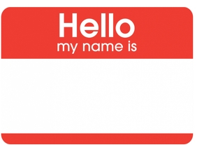 Name Badge Tag Sticker Template