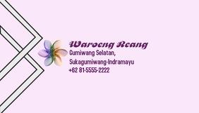 Name Card Purple