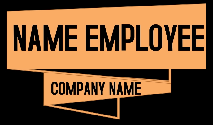 NAME TAG EMPLOYEE Etiqueta template