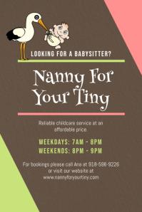 Nanny Babysitter Poster Design
