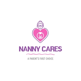 Nanny Cares Babysitting Logo