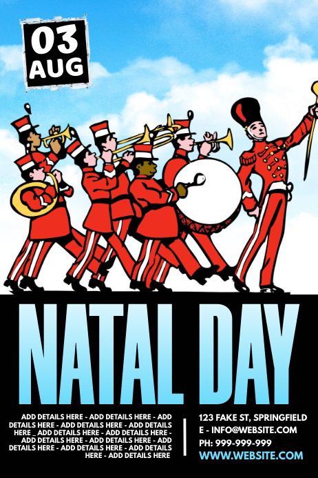Natal Day Poster template
