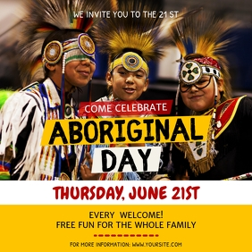 National Aboriginal Day Event Invitation Inst