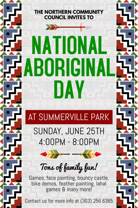 National Aboriginal Day Flyer
