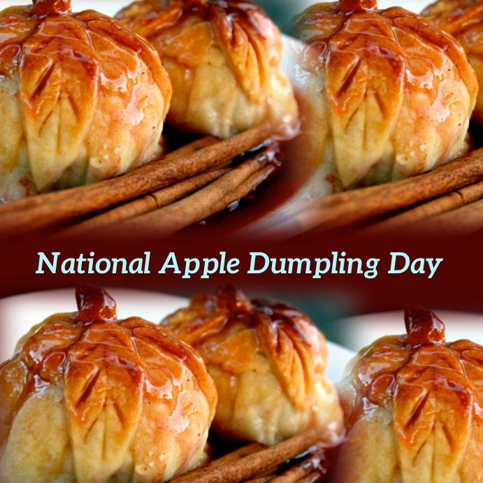 national apple dumpling day Instagram Post template