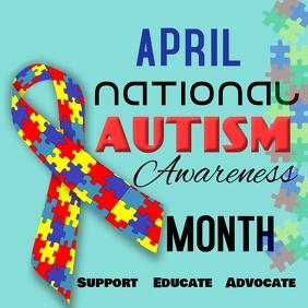 national autism awareness month similar design templates