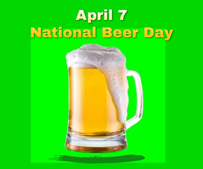 National Beer Day 2021 Large Rectangle Retângulo grande template