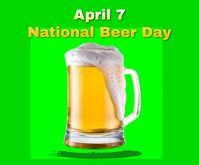 National Beer Day 2021 Medium Rectangle 中型广告 template