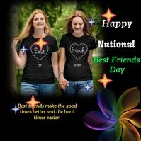 national best friends day Publicação no Instagram template