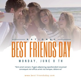 National Best Friends Day Social Media Template Message Instagram