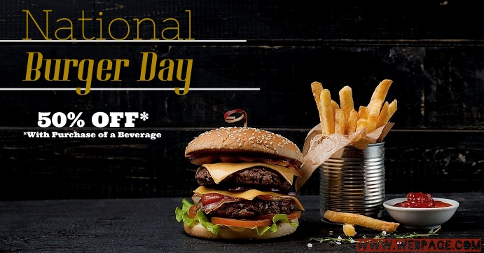 National Burger Day Facebook Event Cover template