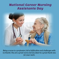 National Career Nursing Assistants Day Publicação no Instagram template