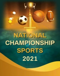 National Championship Sports Poster/Wandzeitung template