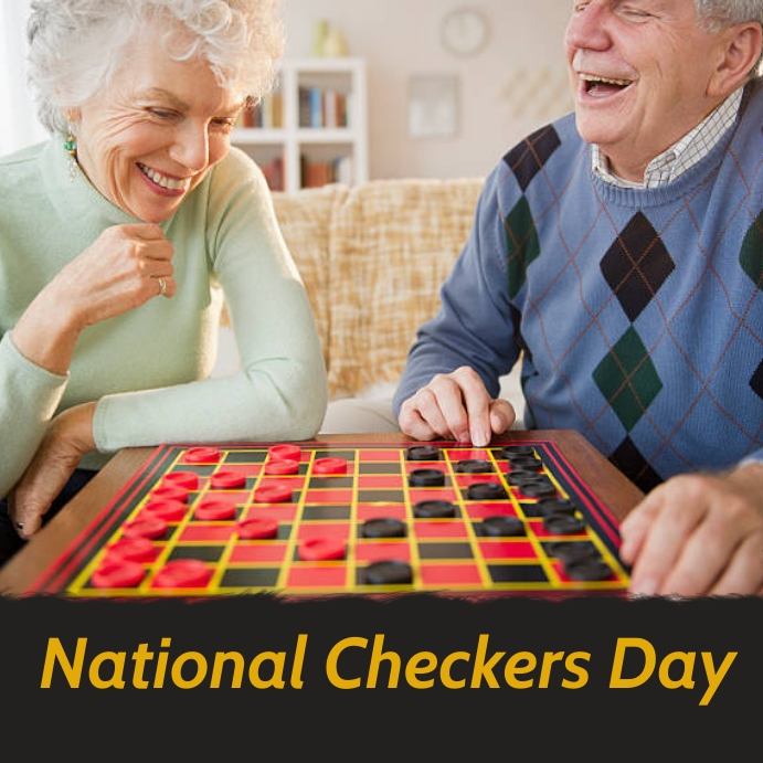 national checkers day Message Instagram template